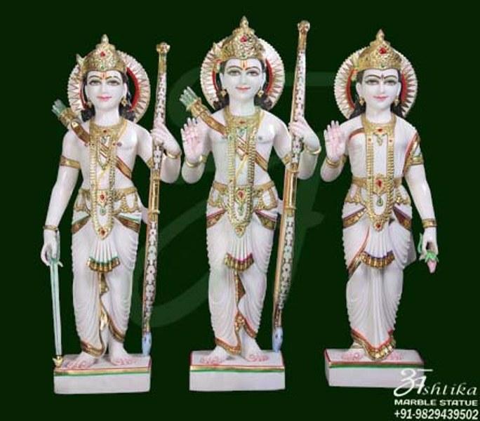 Snow White Ram Darbar Sculpture