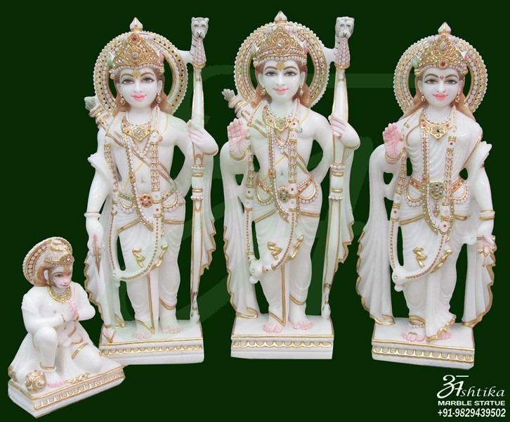 Pure White Ram Darbar Sculpture