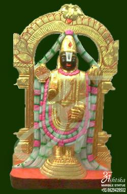 Marble Tirupati Balaji Murti