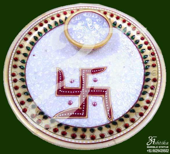 marble Aarti Thali