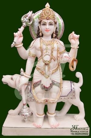 Marble Bheru Statue