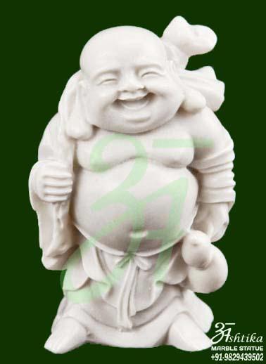 Marble Laughing Buddha