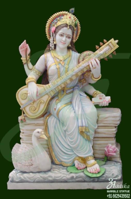 White Marble Saraswati Statues Manufacturer Amp Suppliers In