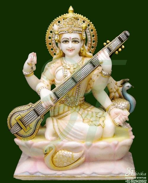 Marble Sarawati Statue Online