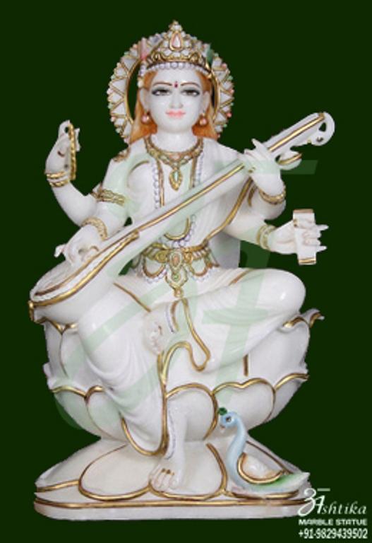 Saraswati Marble Idol