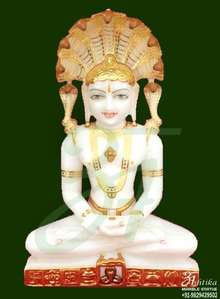 Mahavir Swami Marble Murti
