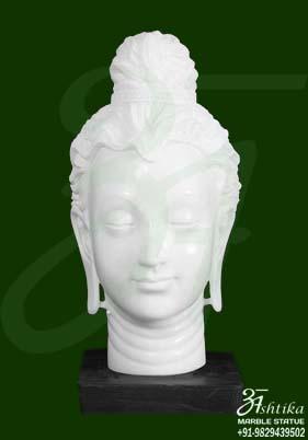 White Marble Gautam Buddha Murti