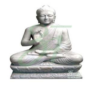 Marble Goutam Buddha Statue