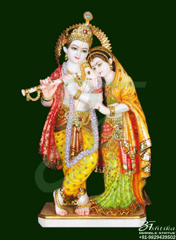 4edf3058eb6 We are delighted to offer you some beautiful sculpture of marble idols.  There are a lot of religious followers of Radha Krishna in all over the  world.