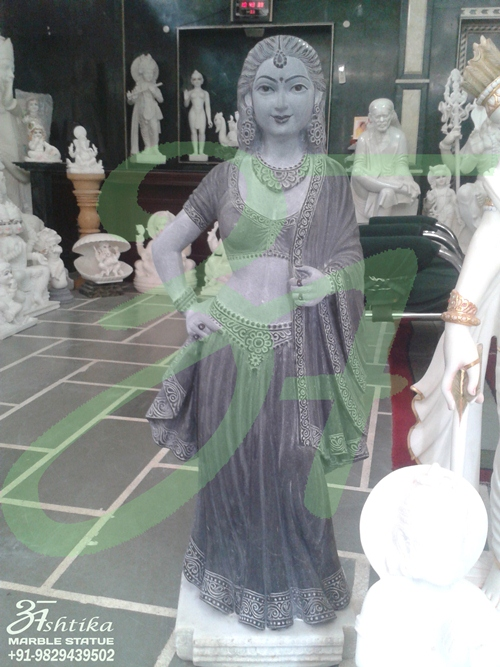Marble Lady Figure Statue