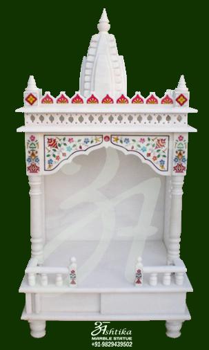 Marble Temple, Mandir for Home - Ashtika Marble Statue
