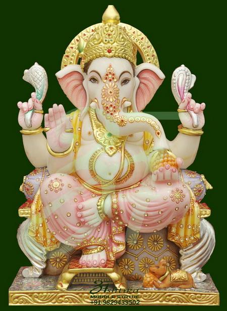 White Marble Ganesha Statues Sculptures Murti Supplier