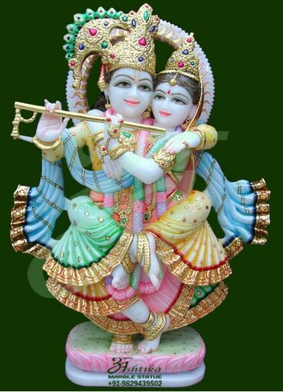 Radha Krishna Marble Statues Idols Moorti In Jaipur India