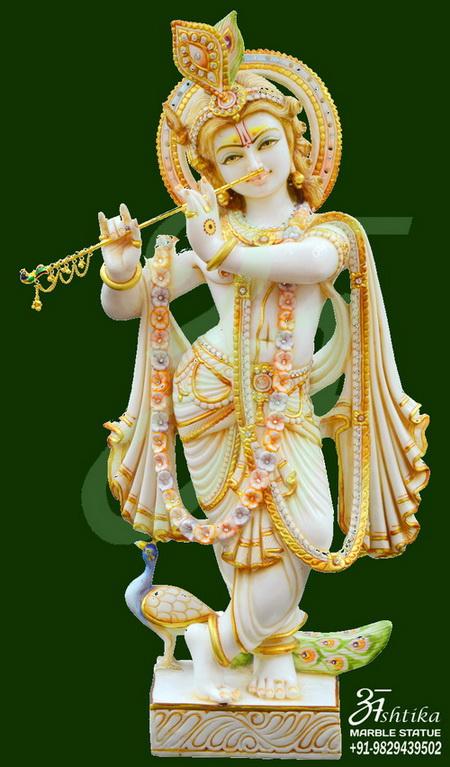Marble Krishna Statues Ashtika Marble Statue