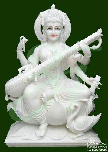 Hindu Goddess Saraswati Sculpture