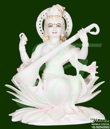 Saraswati Stone Statue