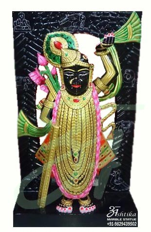 Black Marble Shrinathji Statue