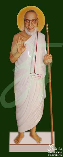 Marble Jain Maharaj Muni Statue