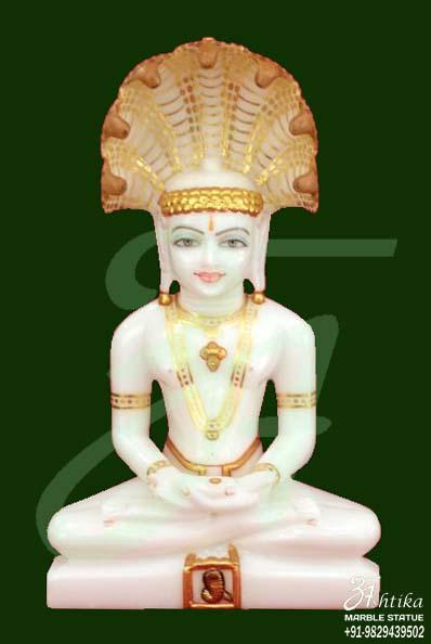 Marble Parshwnath Bhagwan Statue