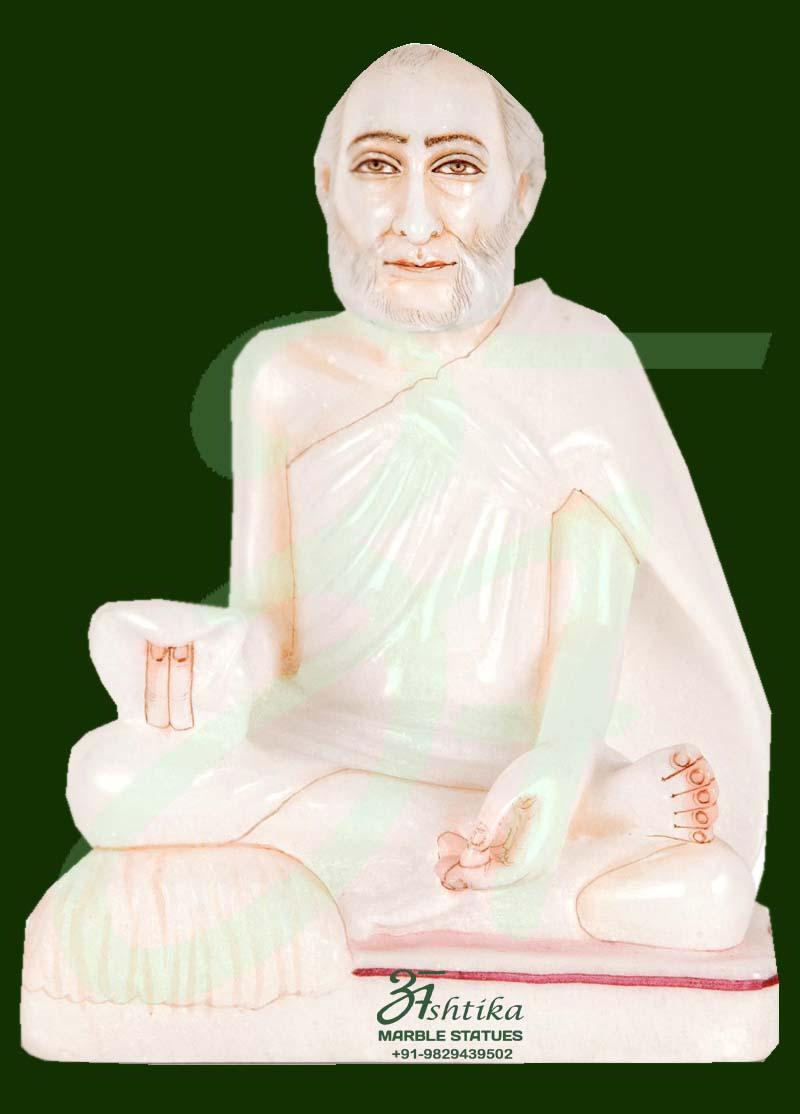 Marble Rajendra Suri Statue