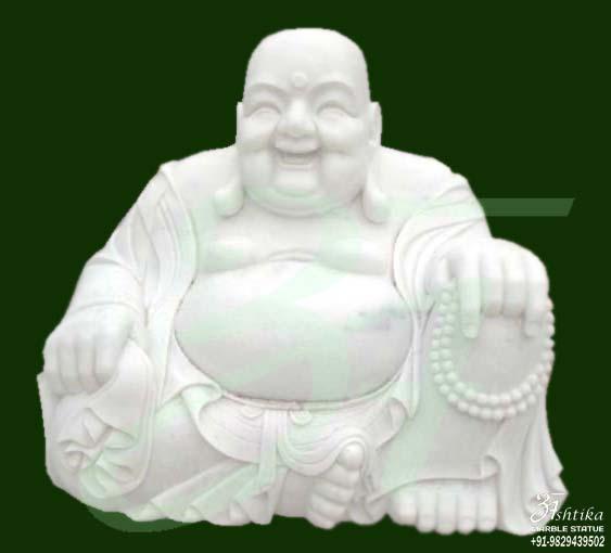 Stone Laughing Buddha Statue