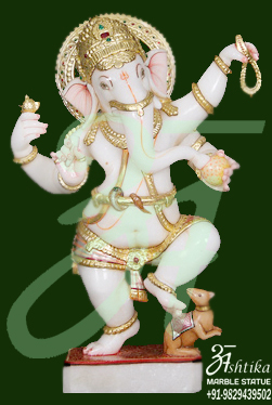 Marble Standing Ganesh Statue