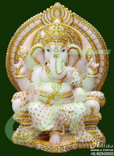 White Marble Ganesha Statues Sculptures Murti Supplier