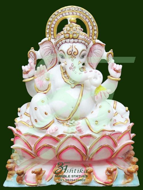Stone Ganesha on Lotus