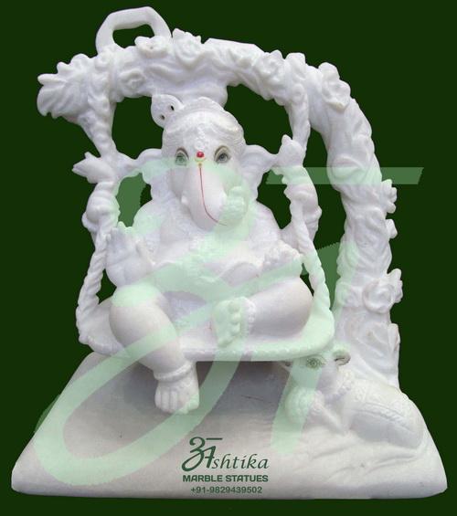Marble Ganesha On Wings