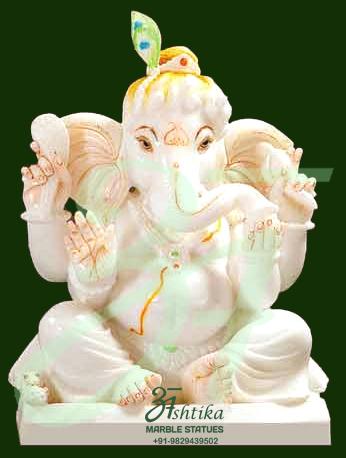 Marble Bal Ganesha Idol