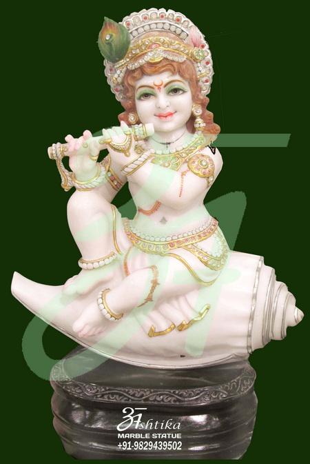 Marble Krishna Statue For Temple