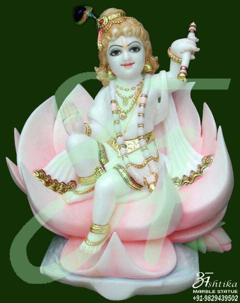 Krishna Statue On Lotus