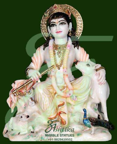 Decorative Marble krishna Statue