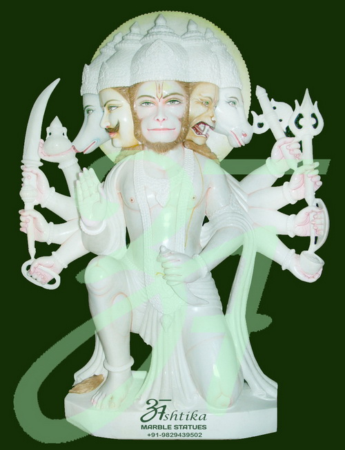 Snow White Hanuman Sculpture