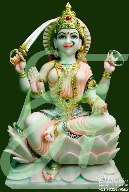 Marble Durga Statue For Temple