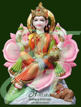 Marble Laxmi On Lotus