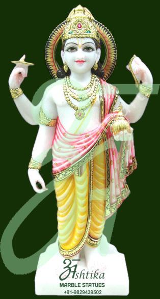 Vishnu Marble Moorti