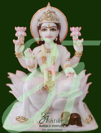 Marble Lord Vishnu Laxmi Statues Murti Idols In Jaipur
