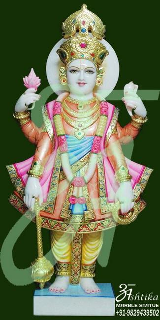 Swami Narayan Marble Statue