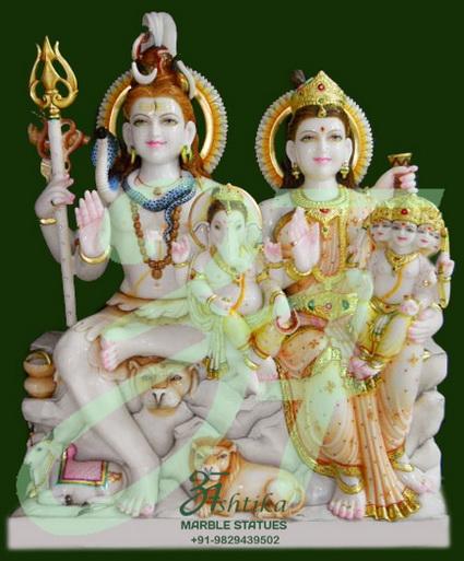 Marble Shiv Parvati Exporter