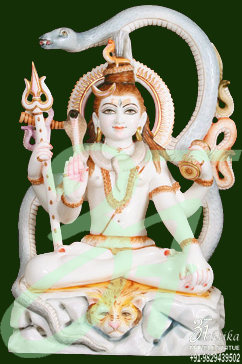 Lord Shiva Statue With Om
