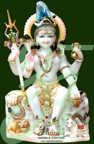 Marble Shiv Shankar Moorti