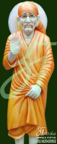 Marble Sai Baba Statue Standing Pose