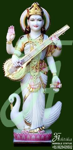 Saraswati Statue With Duck