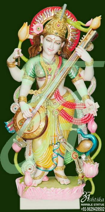 Colourful Saraswati Statue