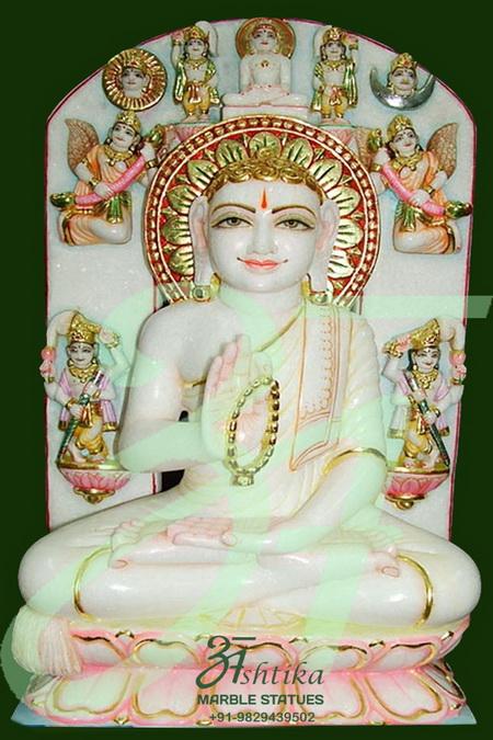 Jain White Marble God Statue